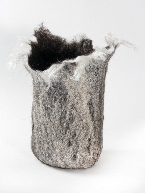 Handgefilzte Urnenhülle - Naturmaterialien (Schurwolle, Seide, Bambus etc.)
